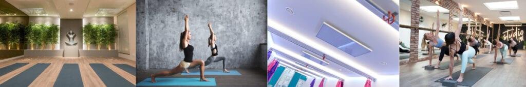 Yogastudio verwarming met HeatXL infrarood panelen informatie Bikram Hotyoga hot yoga hot pilates