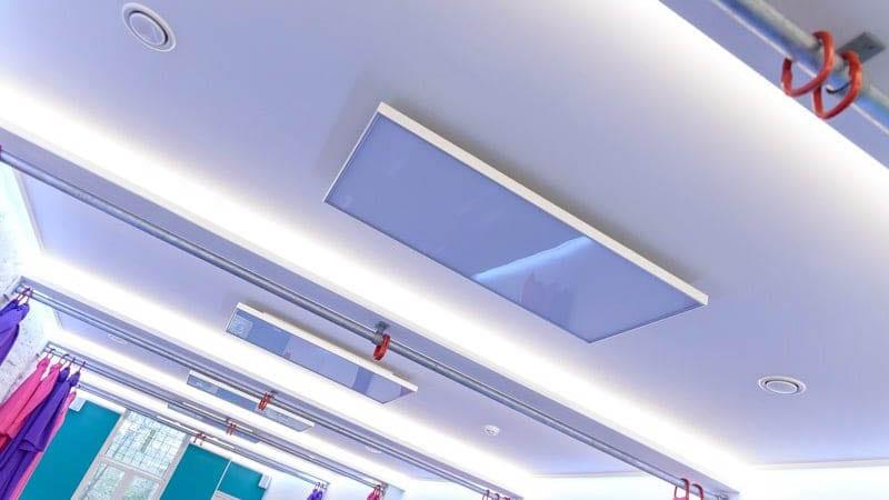 hotyoga verwarming aan plafond yoga studio-2