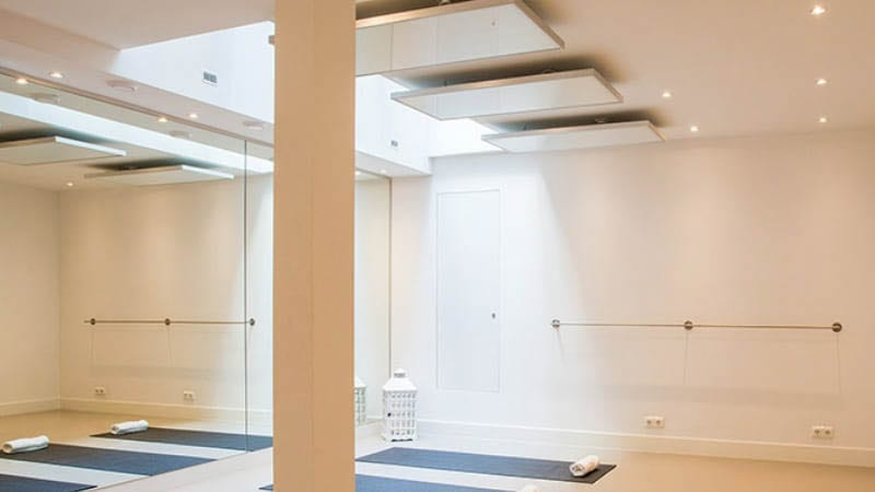 hotyoga verwarming aan plafond yoga studio 5-2